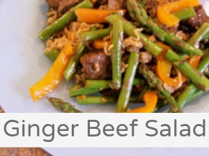 ginger beef salad