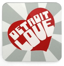 detroit love coasters - set of 4