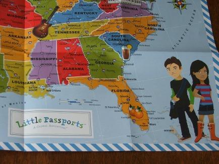Little Passports Map Closeup
