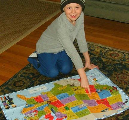 Little Passports Map and Joe