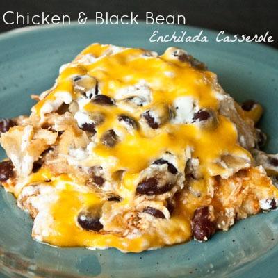 Chicken-Black-Bean-Enchilada-Casserole