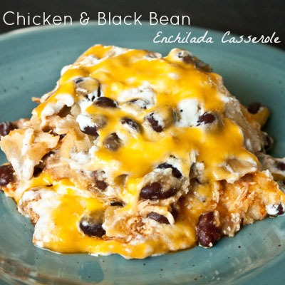 Chicken-Black-Bean-Enchilada-Casserole