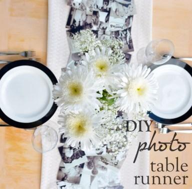 DIY-Photo-Table-Runner