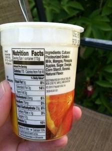 Yoplait Fruitful Ingredients