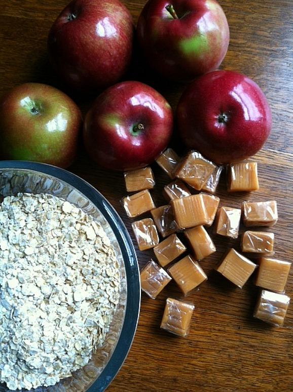 Caramel Apple Crisp Ingredients