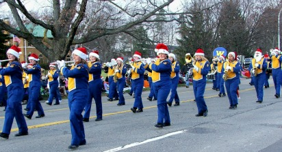 Marching Band at Rochester Hometown Christmas Parade
