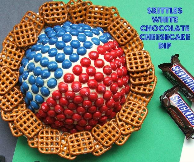 Skittles White Chocolate Cheesecake Dip #BigGameTreats