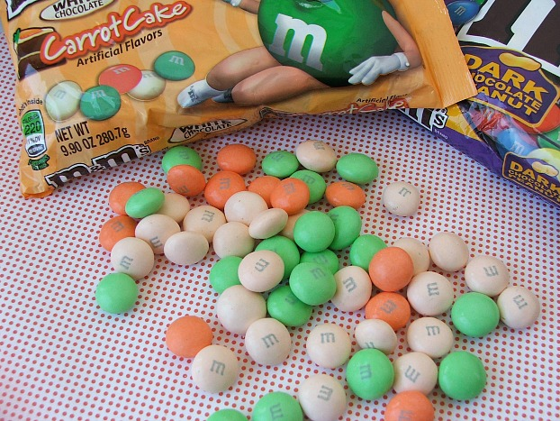 M&M's Carrot Cake and Dark Chocolate Peanut M&M's