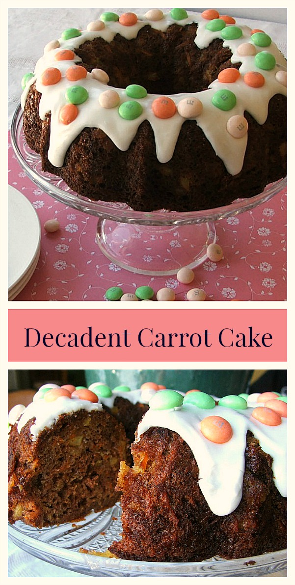 Rich Carrot Bundt Cake with #M&MsCarrotCake