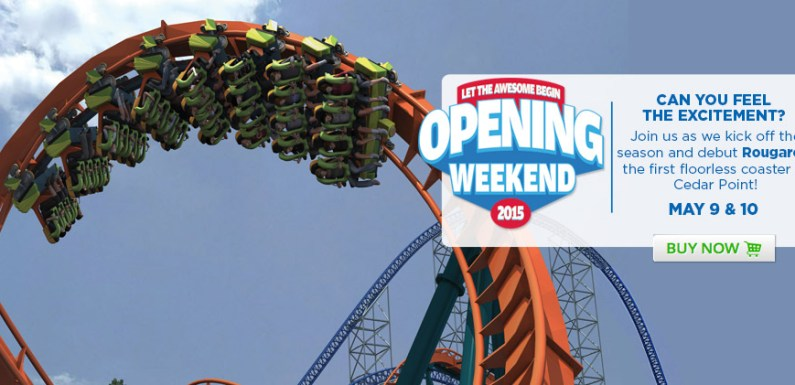 CEDAR POINT OPENING WEEKEND ~ MAY 9th 2015