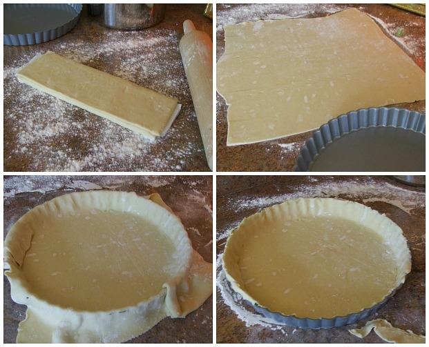 Cheesy Mushroom Tart Crust Process