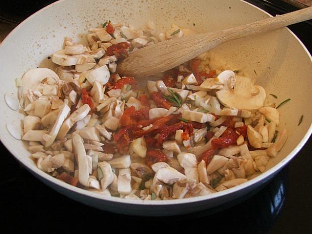 Cheesy Mushroom Tart Saute Pan KRAFT
