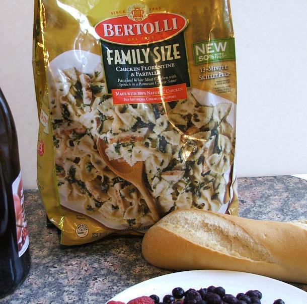 Italian Night with Bertolli Pasta and Triple Berry Bruschetta #MangiaTonight