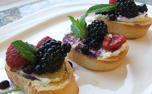 Triple Berry Bruschetta is the Perfect Dessert for Italian Night
