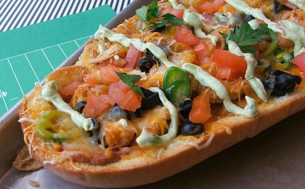 #ad  Chicken Taco French Bread Pizza