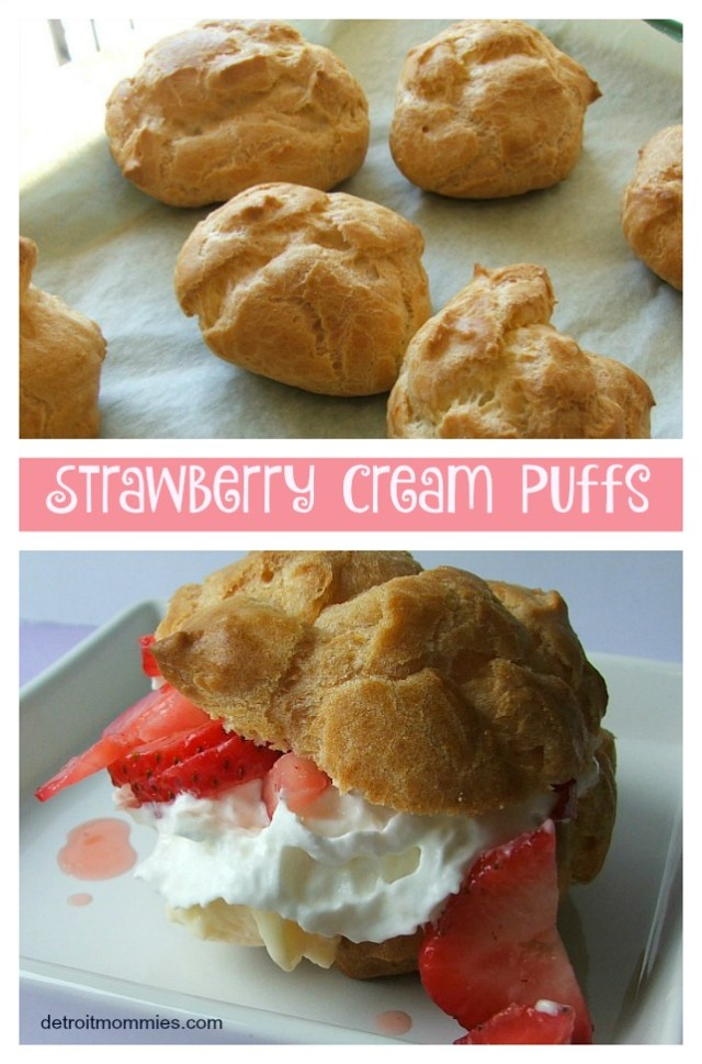 Strawberry Cream Puffs from Detroit Mommies