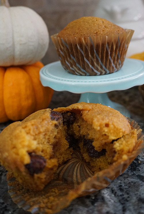 Detroit Mommies Gluten Free Chocolate Chip Pumpkin Muffins
