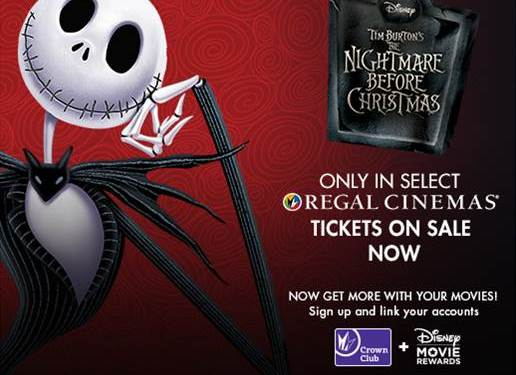 The Nightmare Before Christmas Returns to Regal Cinemas Halloween Weekend