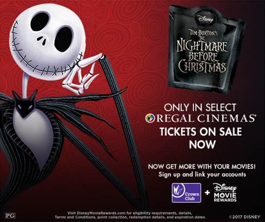 The Nightmare Before Christmas - Returns to Regal Cinemas this Halloween Weekend