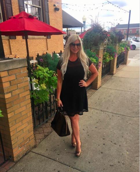 Shannon Lazovski Wearing Michael Kors Dress from Carson's
