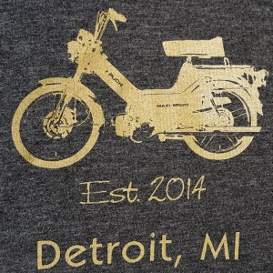 Gray N' Gold Detroit Moped Works T-Shirts!
