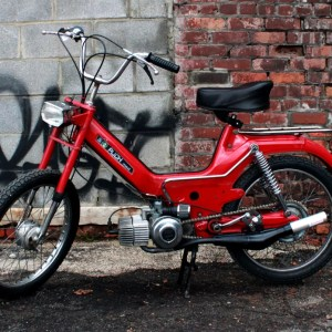 1974 Red Puch Maxi Fully Restored with 70cc motor (SOLD)