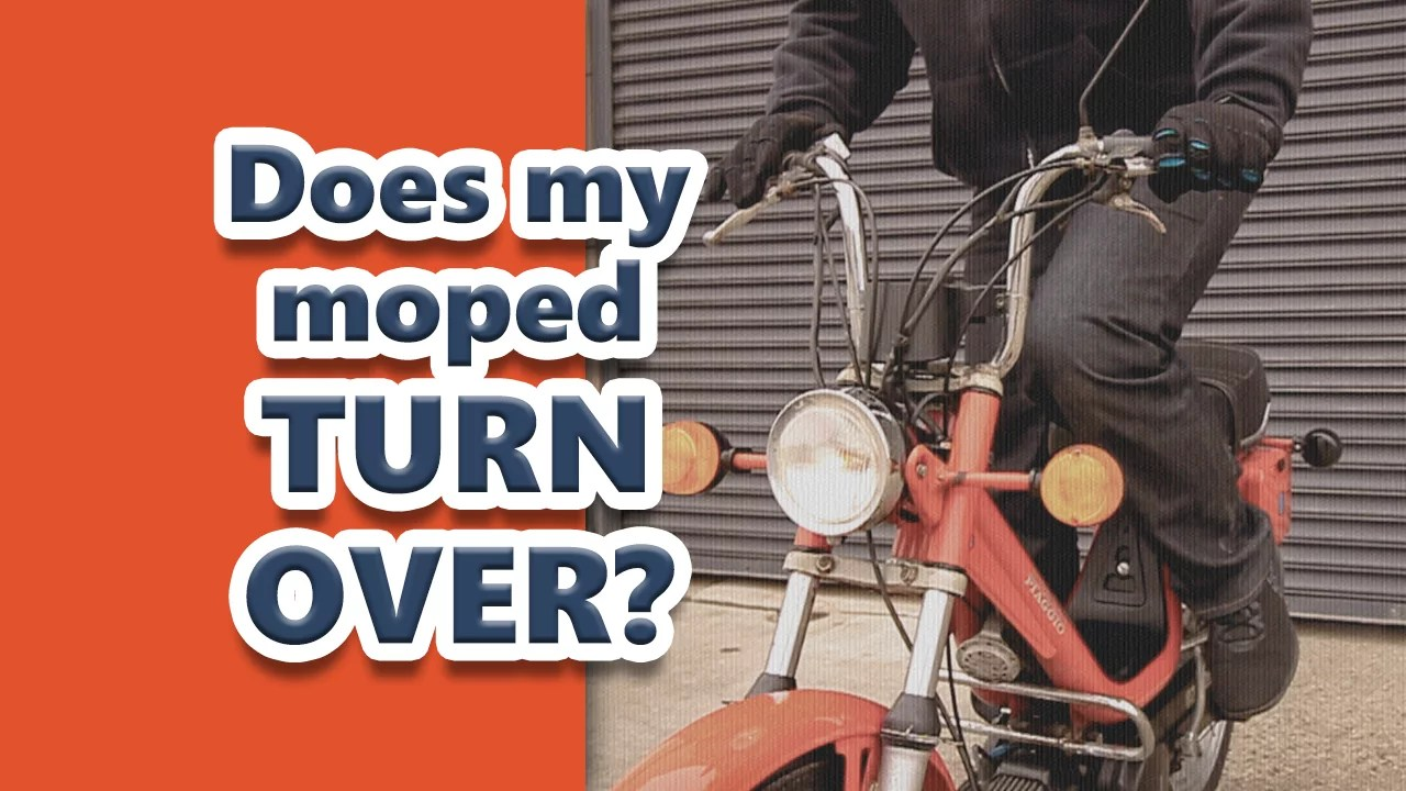 Video Tutorial: Does my moped turn over? How to start a vintage two stroke moped