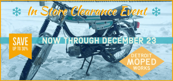 December 2020 In Store Clearance Event!