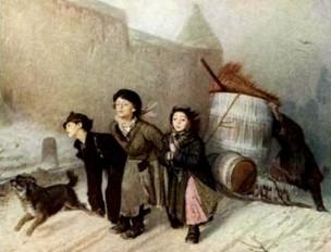 Описание картины В. Г. Перова «Тройка. Ученики-мастеровые везут воду»