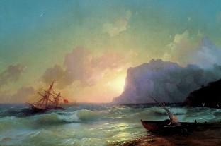 Описание картины И. К. Айвазовского «Море»