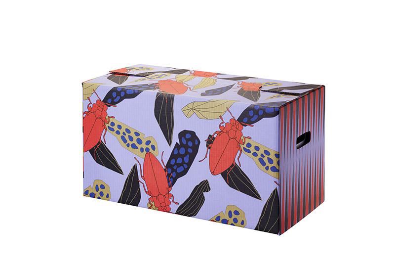 scatola in cartone colorato Ikea