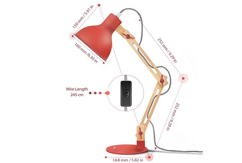 lampada da scrivania regolabile