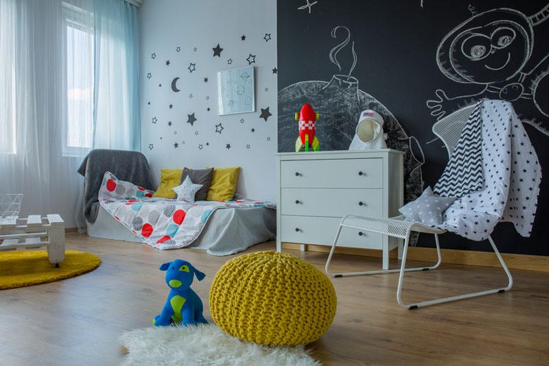 7 idee per la decorazione della parete della stanza dei for Disegnare cameretta online