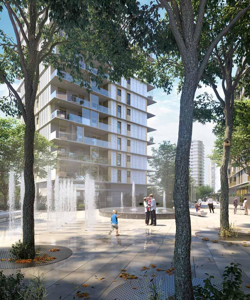 piazza nuovo quartiere Uptown Milano