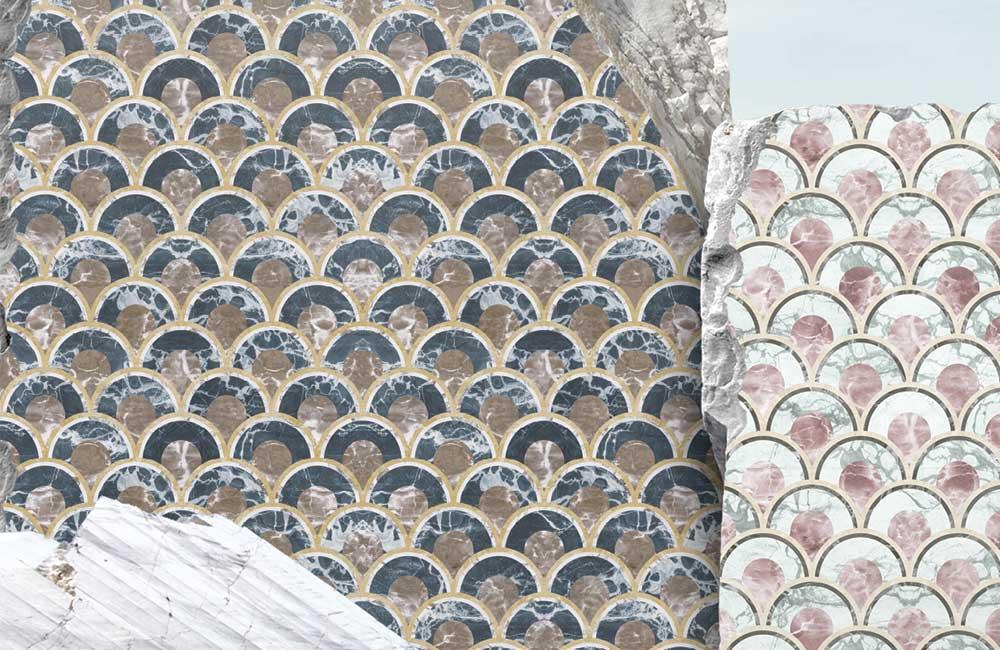 marmi decorati stile anni 40