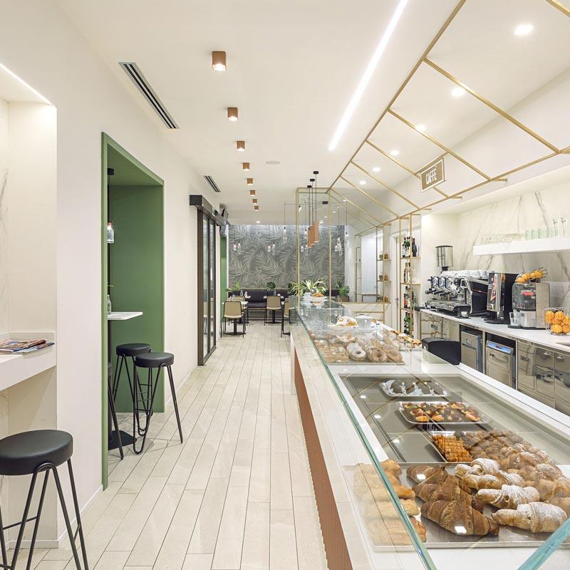 bar pasticcieria dal design attuale