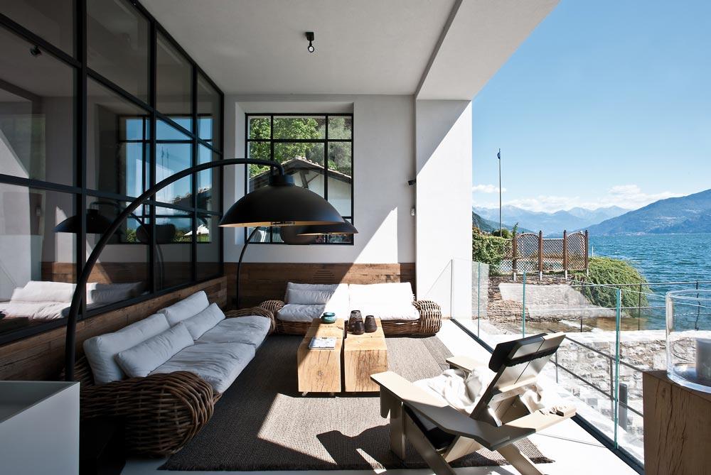 terrazzo villa Lago di como