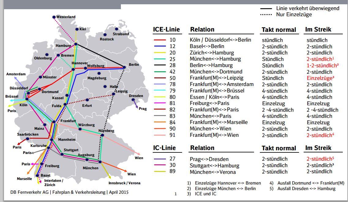Ersatzfahrplan Der Deutschen Bahn