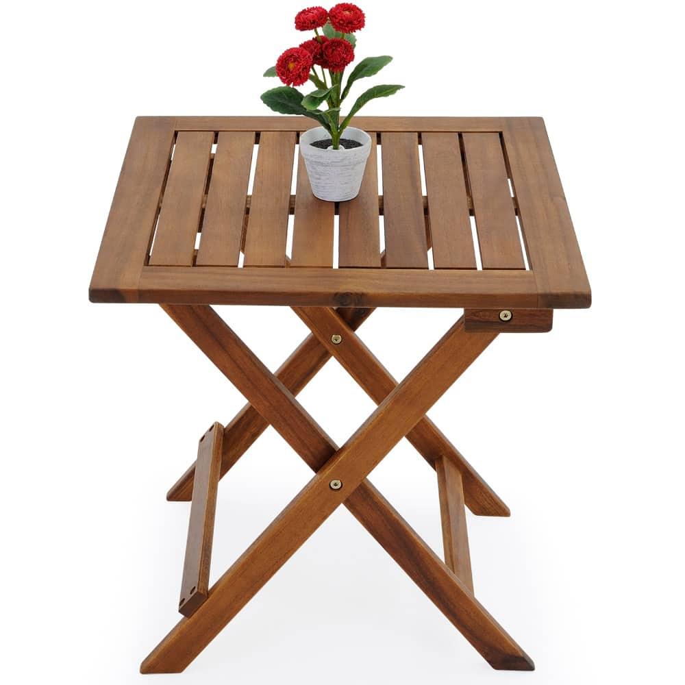 table jardin d appoint 46x46cm acacia