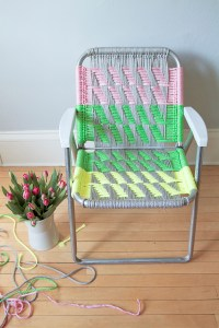 Woven Macram Chair Tutorial - Deuce Cities Henhouse