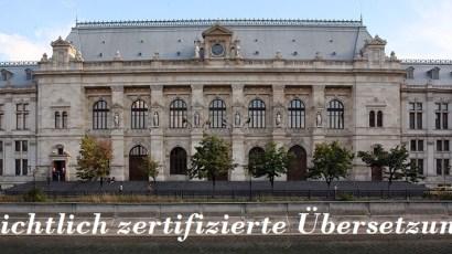 Gerichtlich zertifizierte Übersetzungen