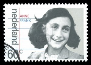 Anne Frank auf einer Briefmarke der niederländischen Post