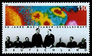 Briefmarke 50 Jahre Max-Planck-Gesellschaft von 1998