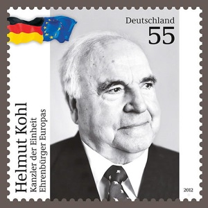 Briefmarke Helmut Kohl Deutsche Post 2012