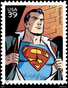 Superman auf Briefmarke aus den USA von 2006