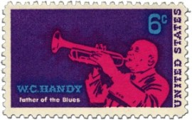 William Christopher Handy auf Briefmarke aus den USA von 1969