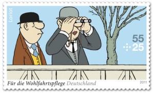 Loriot Briefmarke von 2011