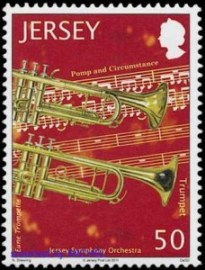 Edward Elgars Pomp and -Circumstances auf Briefmarke aus Jersey 2011