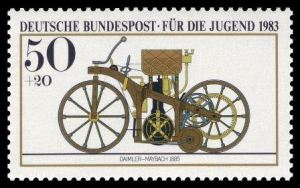 Daimer-Maybach-Reitwagen-Briefmarke-1983