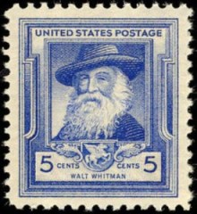 Walt Whitman auf Briefmarke der USA 1940